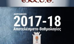 ΕΚΑΣΘ | Αγωνιστικές, αποτελέσματα κι η βαθμολογία (Διοργανώσεις 2017-18)