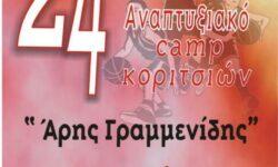 Το έντυπο-αφιέρωμα της ΕΚΑΣΘ για τo 24ο CAMP Κοριτσιών Ε.ΚΑ.Σ.Θ. «ΑΡΗΣ ΓΡΑΜΜΕΝΙΔΗΣ»|  Τα ρόστερ των ομάδων | Το πρόγραμμα του camp