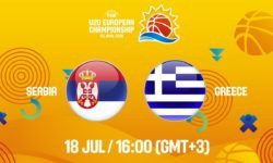 Σερβία – Ελλάδα. Ζωντανά στις 16:00 από τα Τελ Αβίβ για το Ευρωπαϊκό Νέων (FIBA U20 European Championship 2019) για τις θέσεις 9-16