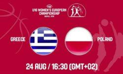 Ελλάδα – Πολωνία. Ζωντανά στις  17:30  από τα Σκόπια για  το Ευρωπαϊκό Πρωτάθλημα Κορασίδων