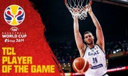 Γιάννης Παπαγιάννης οι καλύτερες στιγμές ως κορυφαίος του αγώνα με το Μαυροβούνιο  (video FIBAWC)