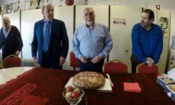 Η πίτα στα γραφεία της ΕΚΑΣΘ (φωτογραφίες, 01.01.2020)