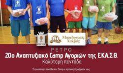 ΡΕΤΡΟ | 20ο Αναπτυξιακό Camp Αγοριών (2014) της Ε.ΚΑ.Σ.Θ. Καλύτερη πεντάδα