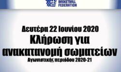ΕΟΚ   Κλήρωση για ανακατανομή σωματείων (Δευτέρα 22 Ιουνίου 2020)