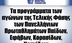 ΕΟΚ | Το πρόγραμμα της Τελικής Φάσης των Πανελληνίων Πρωταθλημάτων Παίδων, Εφήβων, Κορασίδων, Νεανίδων 2020-2021