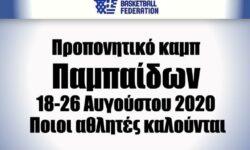 ΕΟΚ | Προπονητικό καμπ Παμπαίδων (18-26 Αυγ 2020) Ποιοι αθλητές καλούνται
