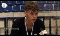 Θεόδωρος Κωνσταντινίδης και Γιώργος Ζαχαριάδης συνομιλούν μετά την κατάκτηση του πρωταθλήματος ΠΑΙΔΩΝ της ΕΚΑΣΘ 2019-20 από την ομάδα του ΠΑΟΚ (video)