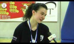 Αθηνά Λέξα & Γιώργος Ζαχαριάδης συνομιλούν μετά την κατάκτηση του πρωταθλήματος ΝΕΑΝΙΔΩΝ της ΕΚΑΣΘ από τον ΠΑΟΚ ΚΥΑΝΑ (video)