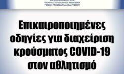 ΓΓΑ | Επικαιροποιημένες οδηγίες για διαχείριση κρούσματος COVID-19 στον αθλητισμό