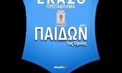 ΠΑΙΔΩΝ 1ος ΟΜ | Το πλήρες πρόγραμμα αγώνων όπως προέκυψε μετά την κλήρωση των ομίλων της ΕΚΑΣΘ 2020-21