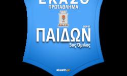 ΠΑΙΔΩΝ 5ος ΟΜ | Το πλήρες πρόγραμμα αγώνων όπως προέκυψε μετά την κλήρωση των ομίλων της ΕΚΑΣΘ 2020-21