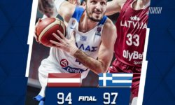 """Εθνική Ανδρών :  Λετονία-Ελλάδα 94-97 – Το """"ευχαριστώ"""" του Σκουρτόπουλου σε Παρίση, Τσαγκρώνη, Μαργαρίτη (vid)"""
