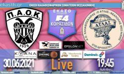 ΠΑΟΚ – ΑΤΛΑΣ ΑΟΚ | F4 Τελική φάση Κορασίδων (1/6 αγ) 🔴 Live streaming από την ΕΚΑΣΘ (30.06.2021 19.45)