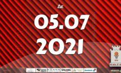 Το πρόγραμμα αγώνων της Δευτέρας (05/07/2021)📆 Διαιτητές και κριτές που έχουν ορισθεί